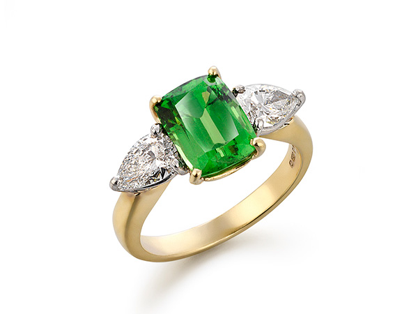 A ring with Emeralds